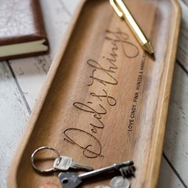 PERSONALISED WOODEN CONCIERGE TRAY