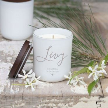 LUXURY PERSONALISED SCRIPT NAME CANDLE